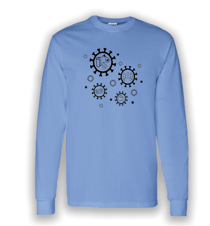 Covid Design - Stay Positive (Long Sleeved T-Shirt)