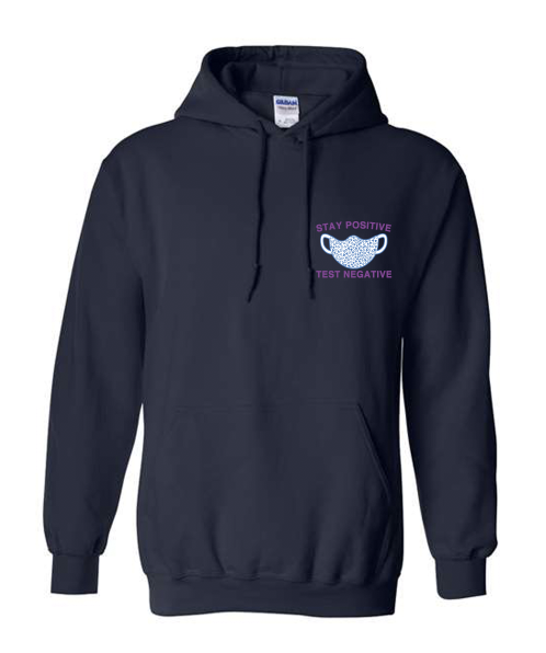 Covid Design - Stay Positive Mask (Hoodie)
