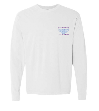 Covid Design - Stay Positive Mask (Long Sleeved T-Shirt)